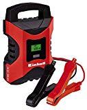 Einhell Batterie Ladegerät CC-BC 10 M (für Batterien von 3 - 200 Ah, Ladespannung 6 V / 12 V, Winterlademodus, LCD-Batteriespannungs- und Ladefortschrittsanzeige)