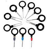 Capalta Blume 11Stk Entriegelungswerkzeug ISO Pin Lösewerkzeug KFZ Stecker Auspinwerkzeug Tool für Flach- und Rundsteckkontakte