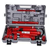 Zerone Wagenheber Hydraulik Wagenheber, 10 Tonnen, 16 Stück, Reparatur-Werkzeuge, Karosserie, Rot