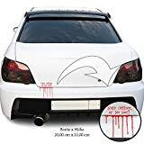 Autotattoo Spruch Auto Aufkleber Sticker Autoaufkleber car Tuning Heckscheibe (268a Kofferraum Blut Rot)