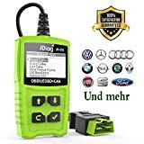 OBD2 Diagnosegerät, Auto Diagnosewerkzeuge OBD II Code Scanner Fahrzeug Fehlercodeleser arbeitet an Allen Autos mit OBD2/EOBD/CAN-Modi für Lesen und Löschen Fehlercode und Batterie Test (Grün2) (red)