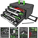 TecTake 300 teiliger Werkzeugkoffer mit 4 Schubladen | Werkzeug bestückt