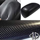 4D Glossy schwarz Carbon Fibre -Vinylverpackungs - Gloss -Blatt -Luft-freies Diffrent Größen (50cm x 1,52 m)