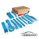 Gerrisons 12 Teile Profi Hebelwerkzeug - hochfeste Ausführung - Zierleistenkeile Set + Cliplöser zur Demontage Auto Innenausstattung, Türverkleidung etc.